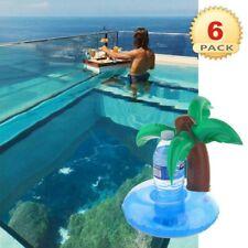 Inflatable Palm Pool Bath Drink Holder, 6 PACKS