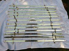 More details for antique brass fleur-de-lis stair rods