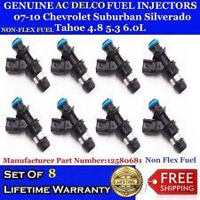 OEM ACDelco Fuel Injectors 07-10 Chevrolet Suburban Silverado Tahoe 4.8 5.3 6.0L