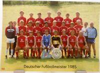 FC Bayern München + Deutscher Fußball Meister 1985 + Fan Big Card Edition F42 +