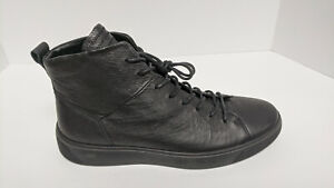 ECCO Street Tray High Top Sneakers, Black, Men's 42 EU (US 8-8.5)