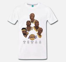 T-SHIRT MAGLIA LEGGENDE BASKET NBA LOS ANGELES LAKERS BRYANT JABBAR JOHNSON 1
