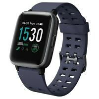 Smartwatch Sportivo Fitness Bluetooth iOS Android Cardiofrequenzimetro IP67 Blu