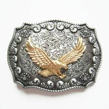 Flying Eagle Rodeo Western Cowboy Metal Belt Buckle