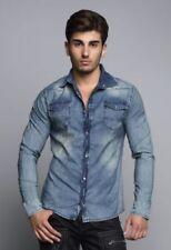 Gestreifte Langarm Herren-Freizeithemden & -Shirts Hemd-Stil