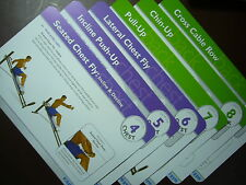 Total Gym Training Deck Exercise Cards Only NO holder