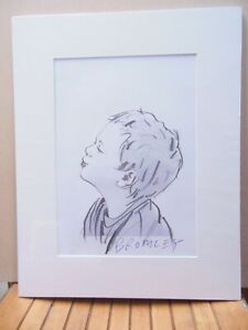 David Bromley Original DRAWING 41x32cm BOY STUDY Working Drawing One ONLY
