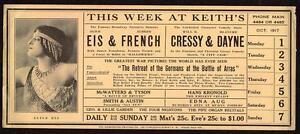 1917 WASHINGTON DC*KEITH'S THEATER*ALICE EIS*ALBERT FRENCH*HALLOWE'EN BALLET