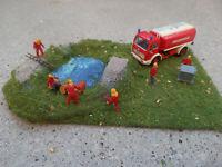 PREISER - Diorama HO 1:87  Feuerwehr Chemie