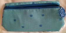 NEW - Lancome Two Tone Blue Polk a Dot Makeup Bag