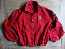 RALPH LAUREN POLO VTG CREST RARE 1997 MENS RED #7 FULL-ZIP 30th JACKET SIZE: XXL