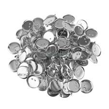 Lot Of 95pcs Silver Charms Round Blank Bank Safety Pin Brooch Findings 20mm