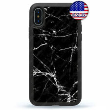 Black White Marble Case Cover Fine Stone For iPhone X Xs Max XR 8 7 6 Plus 5 4