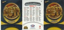 2011 Select AFL Champions Series - HOLOFOIL Checklist Cards Set OF 3