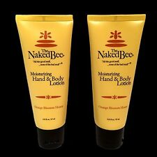 The Naked Bee Orange Blossom Honey Hand & Body Lotion 2.25 oz 2 pack Natural