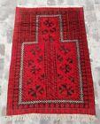 Afghan vintage Prayer Rug Best Trible Baluch Rug 140x97 cm / Oriental Wool Rug