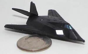 Small Micro Machine US Air Force F-117 Night Hawk Jet Aircraft (No Markings)
