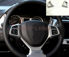 Chrome Steering Wheel Molding Cover Trim For Suzuki Vitara Escudo 2015 2016