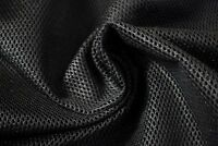 "Black Military Mesh Tactical Nylon 46"" Wide Mil-Spec Raschel Fabric Durable"