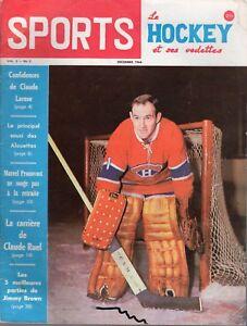 1964 (Dec.) Sports Le Hockey Magazine, Charlie Hodge, Montreal Canadiens ~ Fair