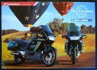 HONDA ST1100 PAN EUROPEAN Motorcycle Sales Brochure Sept 1996