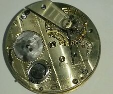 VERY COLLECTABLE 18's HUNDRES, HIGH GRADE IWC JHON CALIBER  POCKET WATCH MOVT.