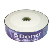 25 PACK AONE BLANK CD-R DISCS WHITE FACE INKJET PRINTABLE 52x 700MB 80 MINS