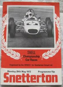 SNETTERTON 29 May 1972 Shell Championship Car Races Official Programme