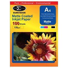 100 Sheet Pack Premium A4 Matte Professional Photo Paper 210 x 297mm / 128gm