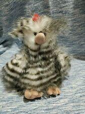 Stuffed Chicken Spring Assortment Gray White Stripe Bird Fluffy Auroraworld