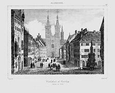 Würzburg ** Cattedrale di segmento ** ACCIAIO chiave di Arnout/Lemaitre ** 1838 **