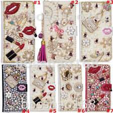 For ZTE Blade X1 5G Bling Glitter Crystal leather slots stand wallet case cover
