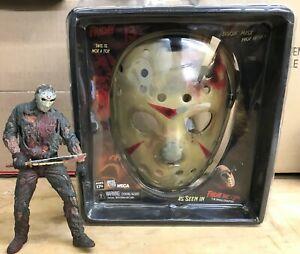 Neca Jason Voorhees Mask Prop Replica New & Jason Figure Friday the 13th