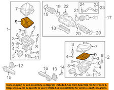 HYUNDAI OEM 2015 Genesis Engine-Air Cleaner Filter Element 28127B1000