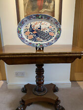 More details for peacock themed old plate, pub sharing platter farmhouse style 4 kitchen dresser