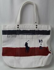 1815002d62bd Polo Ralph Lauren Red White Blue Heavy Cotton Canvas Tote Bag
