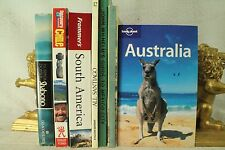 lot old travel books. Australia Frommer's South America Chile Mexico City Brazil