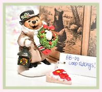 ❤️Wee Forest Folk BB-08 Good Tidings! Glad Bear Christmas Wreath Retired BB-8❤️