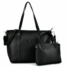 Ladies Bags Black Big Capacity Bag Set With Slim Strap Designer Womans UK