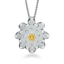 Fashion jewelry 925 silver Necklace Lotus pendant female birthday present