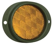 GROTE 40163 - Steel Two-Hole Mounting Reflector, Military Green w/ Gasket