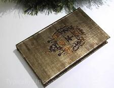 India Jane SECRET BOOK BOX Heraldry GOLD COPERTURA HOME Interiors decorazione regalo