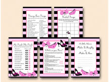 Print Yourself - Lingerie Hens Bridal Shower Game Pack Printable BS450
