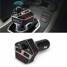 Car Wireless Bluetooth Handfree USB Charger FM Mp3 Player Voice Prompt Number