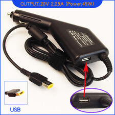 Laptop DC Adapter Car Charger + USB for Lenovo/ Thinkpad Yoga 13 36200246