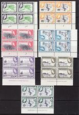 Nyasaland1953-4 marg set to 1/- inc imprints+plate numbers VF MNH SG 173-182