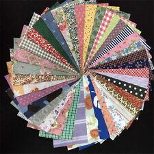 50 pieces/lot 10cmx10cm Charm Pack Cotton Fabric Patchwork Bundle Fabrics