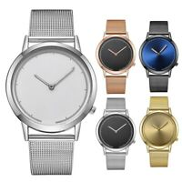 Luxury Men Women Steel Mesh Band Watch Quartz Analog Casual Couple Wrist Watches