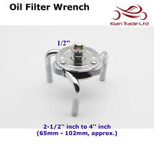 """Professional 1/2"""" inch Oil Filter Cap Wrench 3 Jaw Adjustable Universal Tool"""