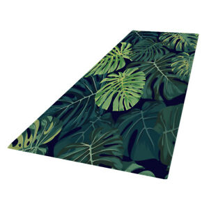 Monstera Leaves Printed Floor Mat Runner Non-slip Area Rugs Carpet